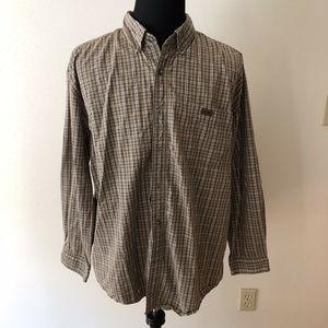 Carhartt brown, tan plaid shirt - mens 2XL